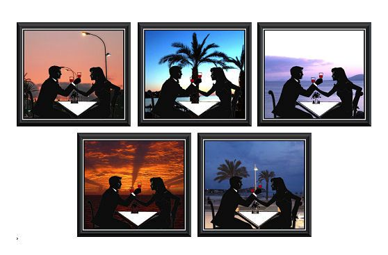 Celebrating Couple Card Making Toppers - Sunset View