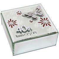 40th Ruby Wedding Anniversary Keepsake Box