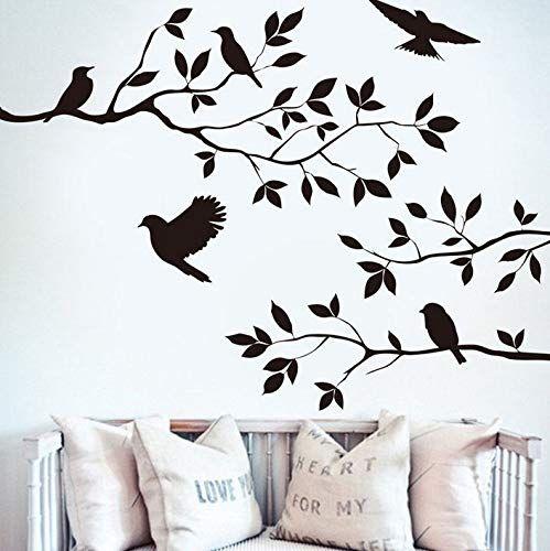 Birds In A Tree Wall Art Sticker