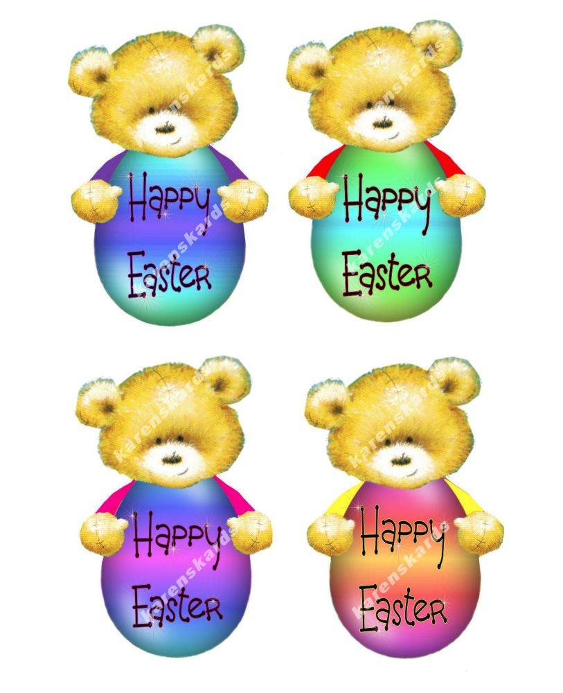 Easter Teddy Bear Card Making Toppers