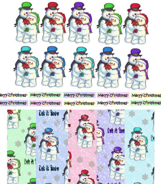Christmas Snowmen Paper Craft Set