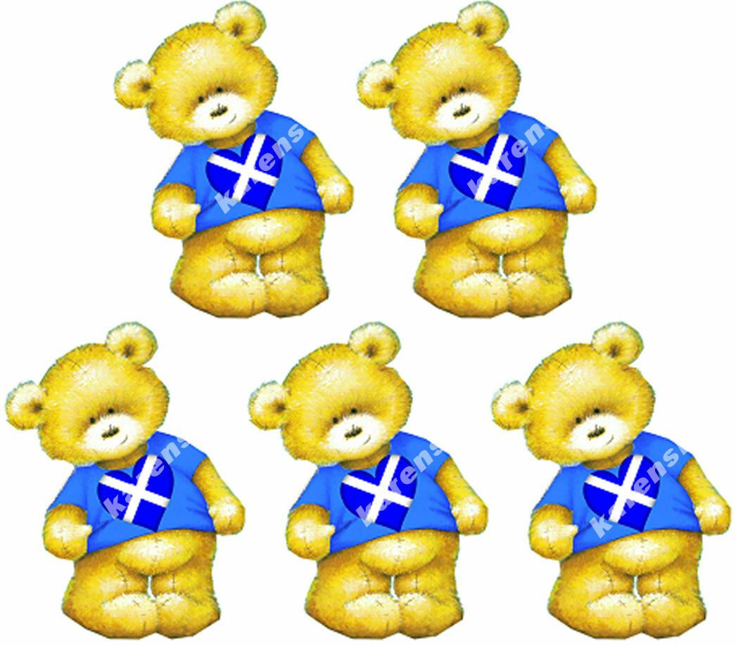 Scottish Teddy Bear Card Toppers