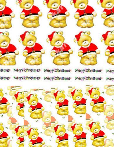 Christmas Santa Teddy Bear Paper Craft Set