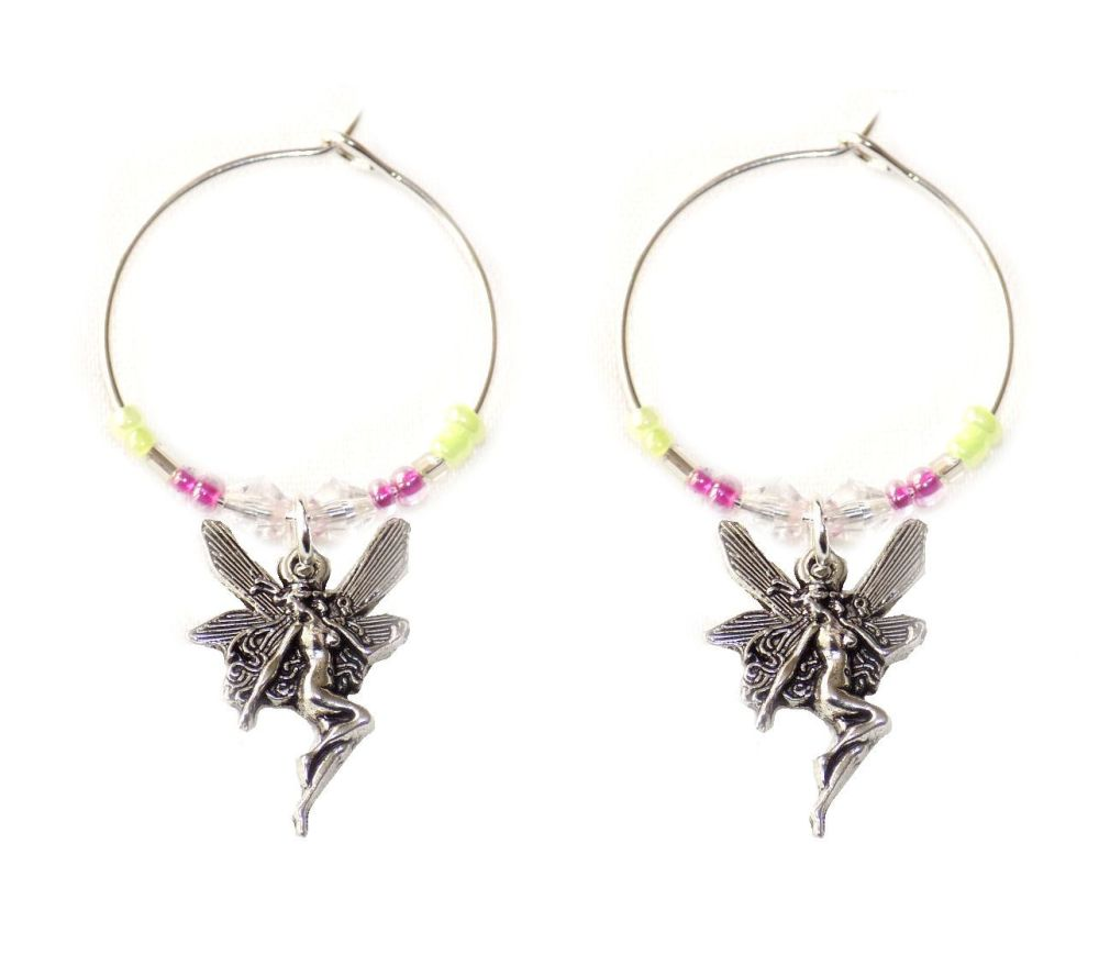 Fairy wine charms x 2