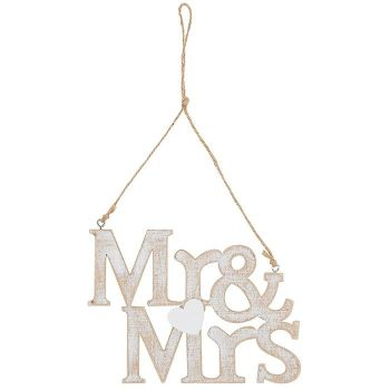 Mr and Mrs Hanging Plaque