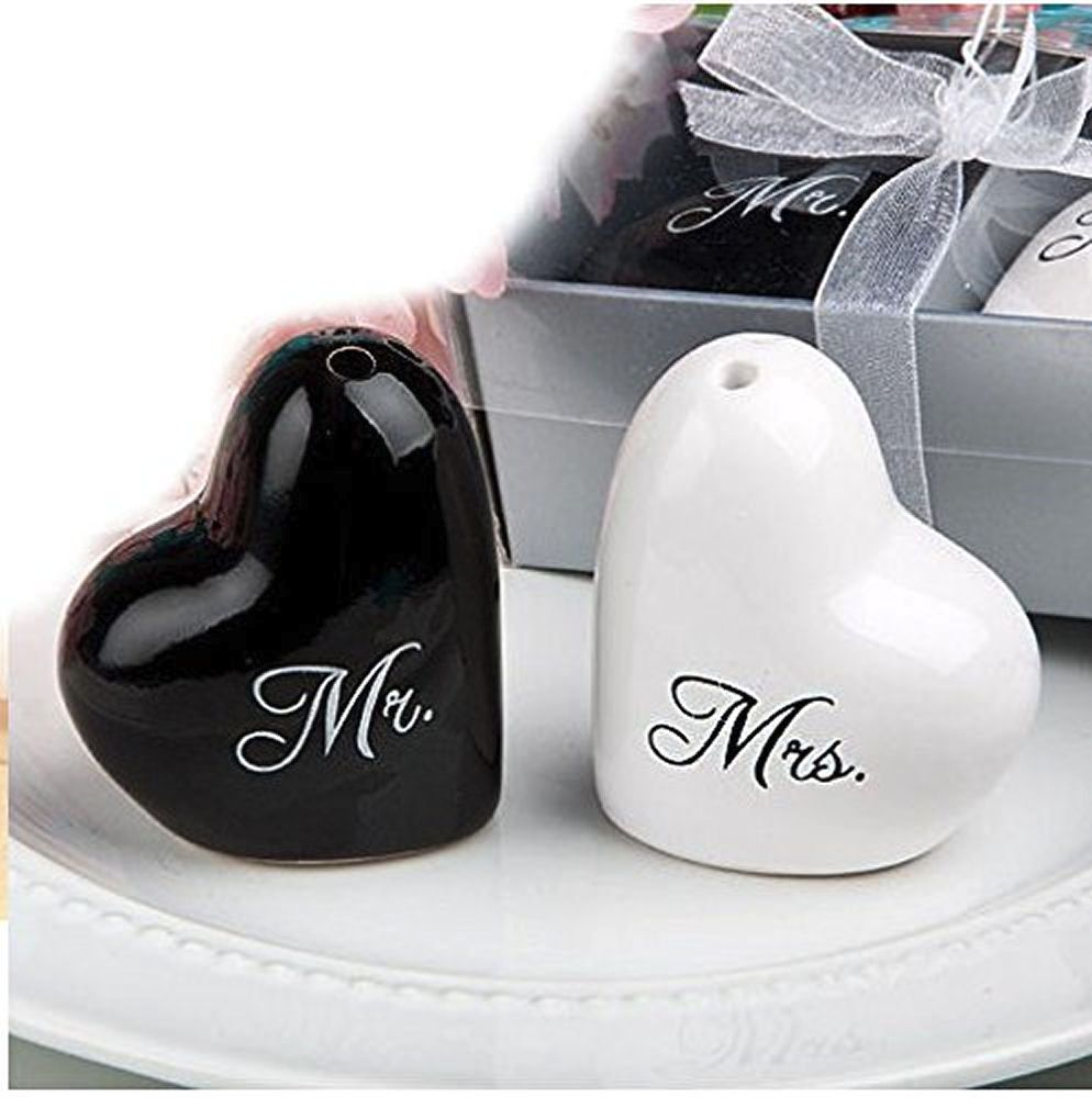 Mr and Mrs Wedding Cruet Salt and Pepper Set