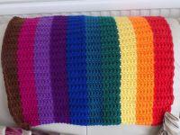 Rainbow Pram Blanket, Unisex Baby Blanket