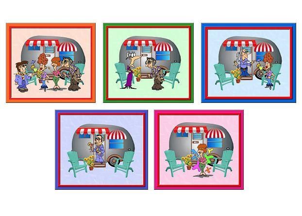 Caravan Card Making Toppers