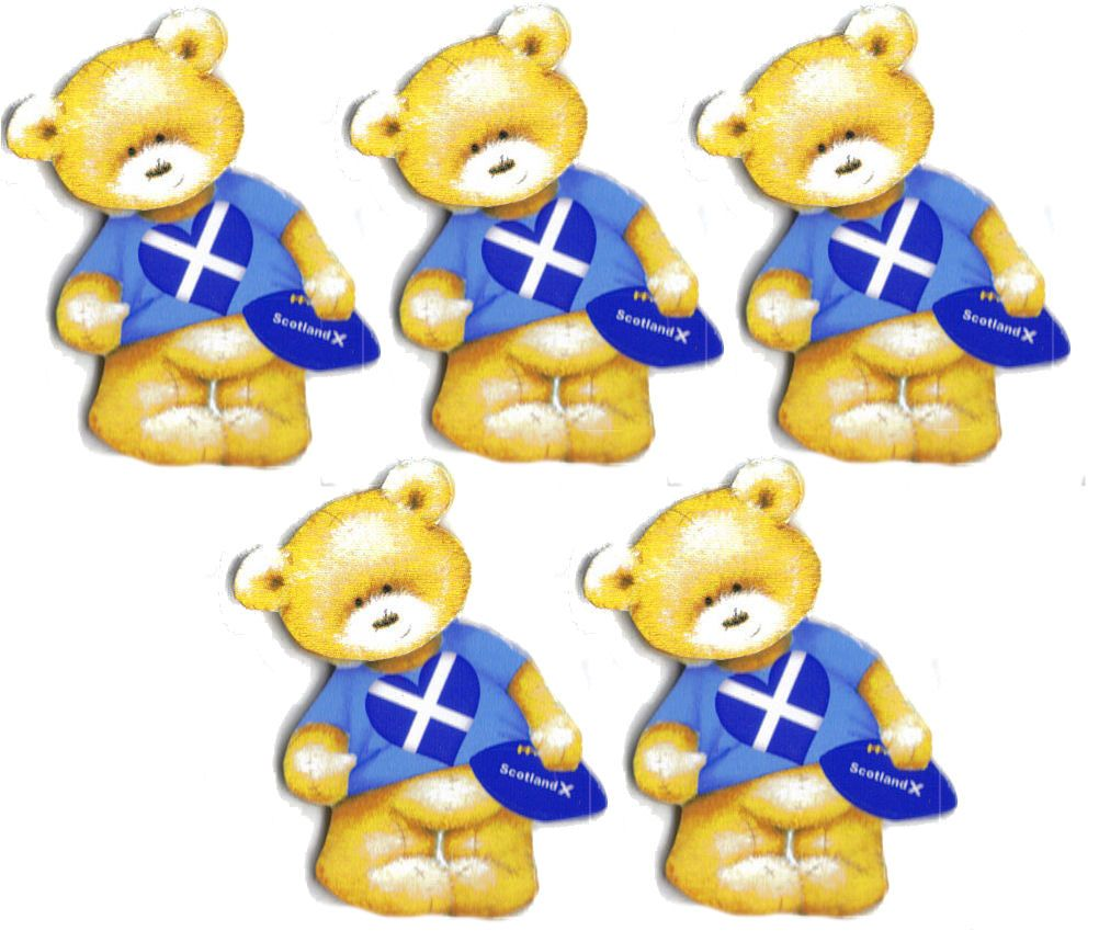 Scotland Rugby Teddy Bear Card Toppers