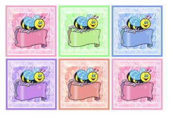 Bee Embellishments Toppers Card Making Craft Crafting x 6 Blank Banner Design