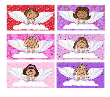 Valentines Angels Craft Embellishments Card Making Toppers