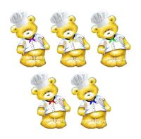 Chef Teddy Bear Card Toppers x 5