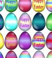 Easter Egg Printed Craft Embellishments x 10
