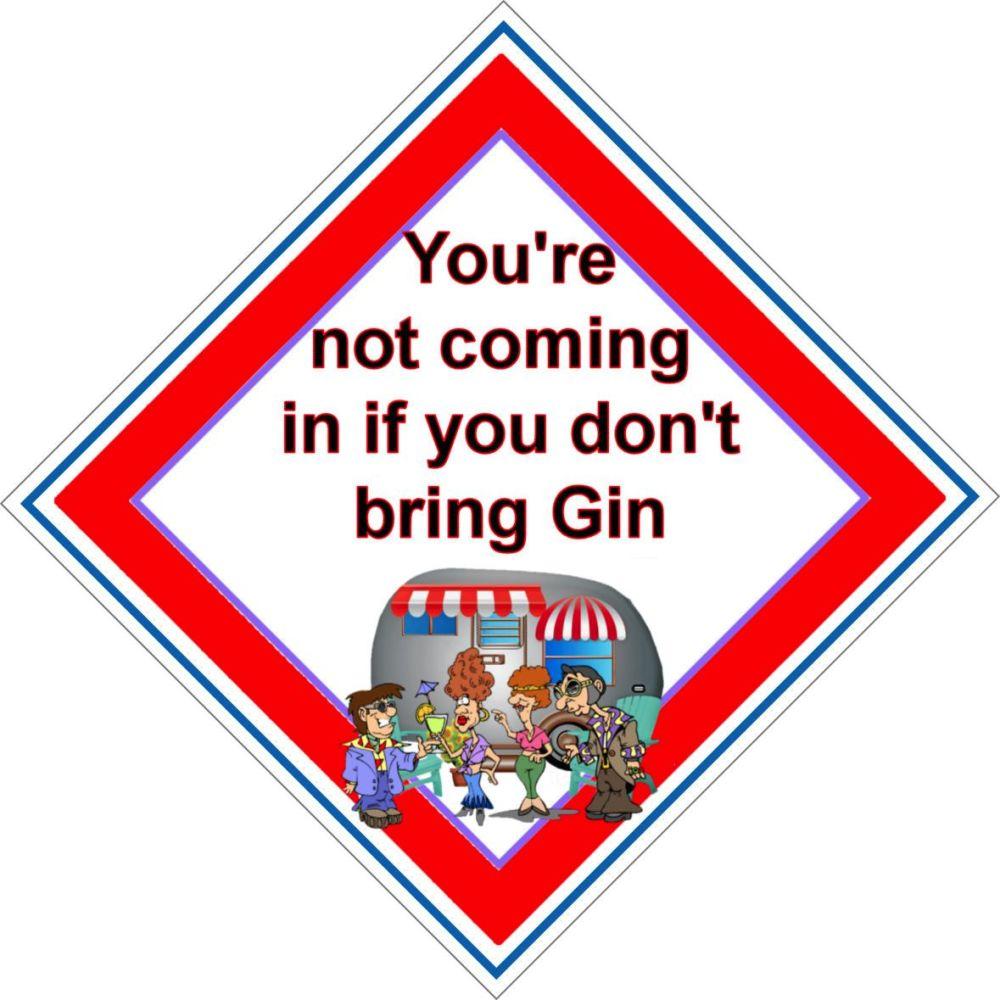 Caravan Sign - Gin