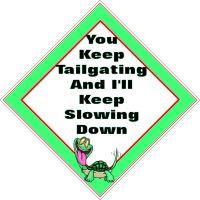 Window car sign, mobile home, caravan sign - Tailgating Turtle