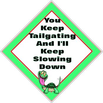 Window car sign, mobile home, caravan sign - Tailgating Turtle