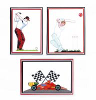 Sports Cardmaking Craft Toppers