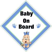 Car Sign - Baby on Board, Blue