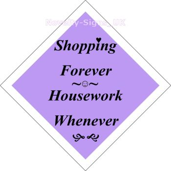 Window car sign, mobile home, caravan sign - Shopping Forever