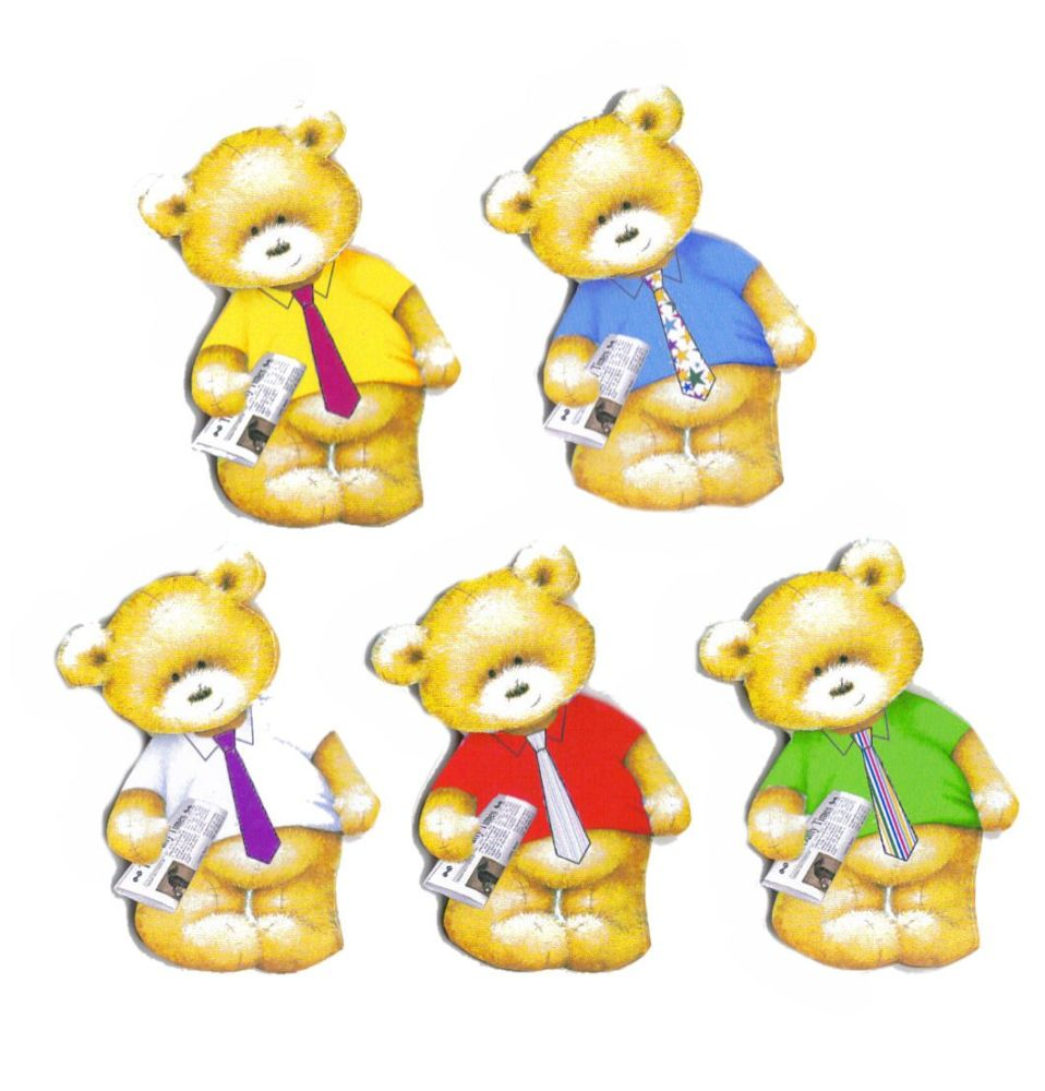 Dad Theme Teddy Bear Card Toppers