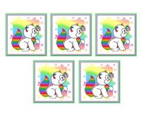 Rainbow Cats Card Making Toppers