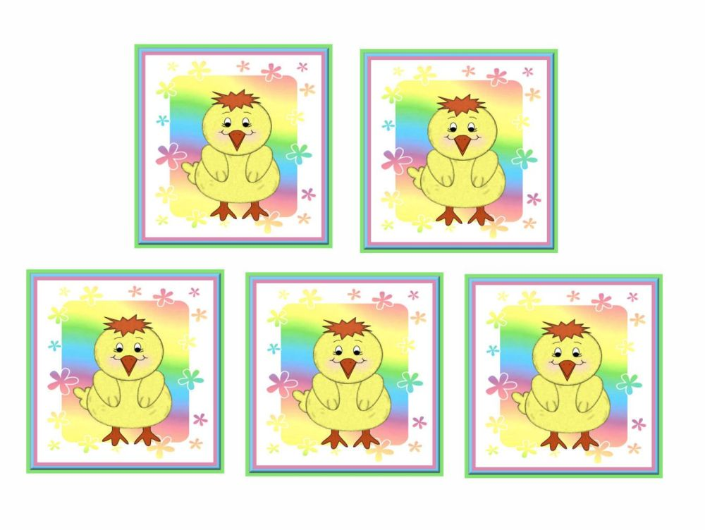 Rainbow Chick Card Making Toppers