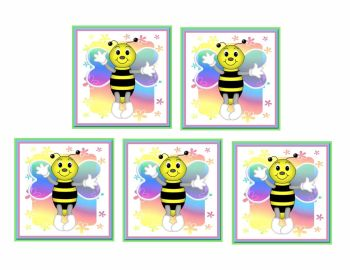 Rainbow Bees Card Making Toppers