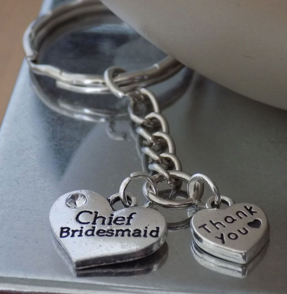 Chief Bridesmaid Thank You Keyring