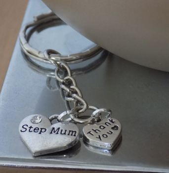 Step Mum Thank You Keyring