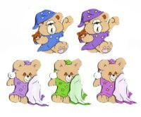 Bedtime Bears Card Making Toppers