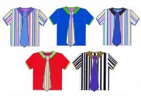 Men's Shirts Card Making Toppers - Stripes