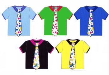 Men's Shirts Card Making Toppers - Stars and Spots