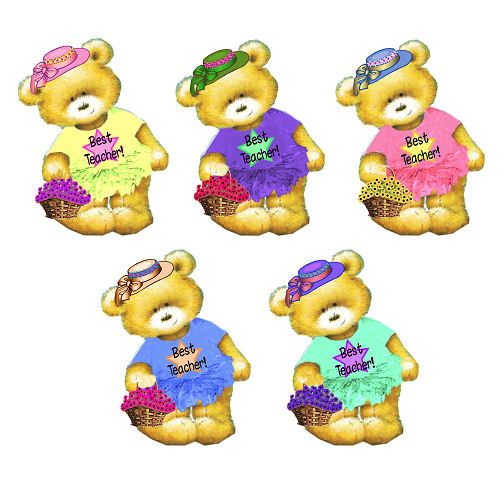Best Teacher Teddy Bear Card Toppers