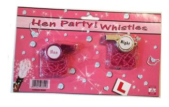 Hen Party Whistles - Set of two