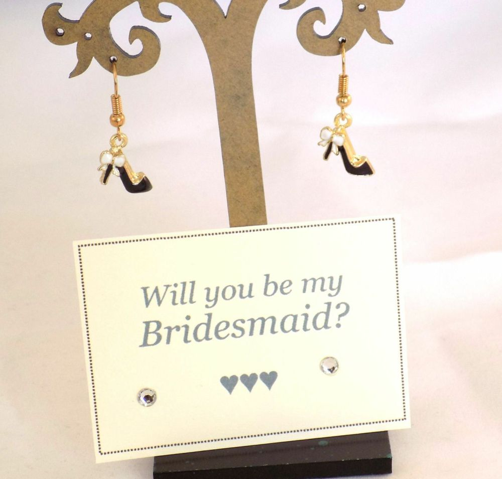 Will You Be My Bridesmaid? Gift Idea of Shoe Earrings