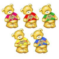 Thank You Rainbow Teddy Bear Card Toppers