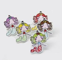 Mermaid Wooden Button Embellishments x 10