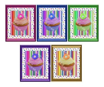 Cupcake Card Making Toppers Embellishments x 5