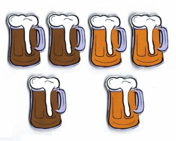 Beer Tankard Card Making Toppers x 6