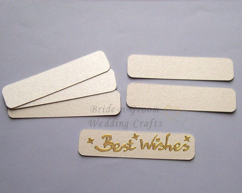 Ivory Pearlescent Banners Embellishments x 12