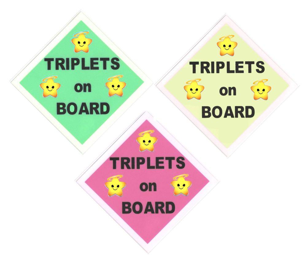 Car Sign - Triplets on Board