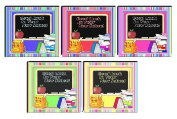 Back to School Good Luck Cardmaking Toppers
