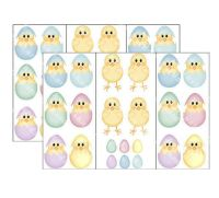 Printed Papers with Easter Chicks Images