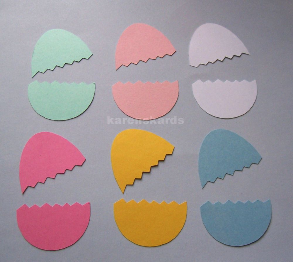 Easter Egg Hatched Pastel coloured Easter Die Cut Shapes