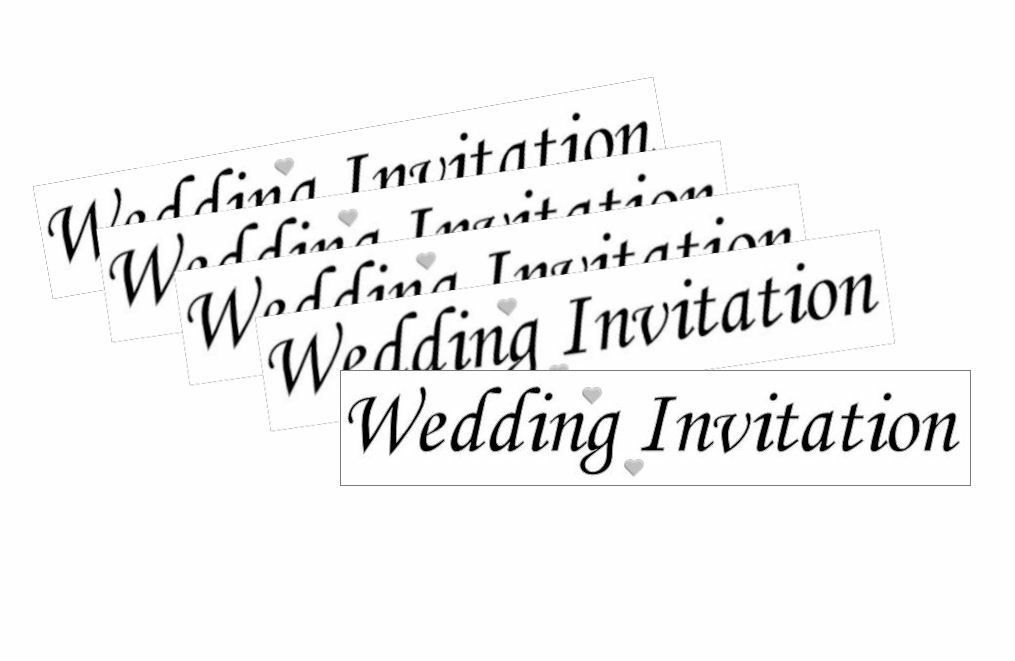 Wedding Invitation Craft Sentiments x 20
