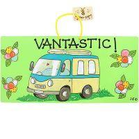 Caravan Campervan Motorhome hanging caravan sign, Vantastic!