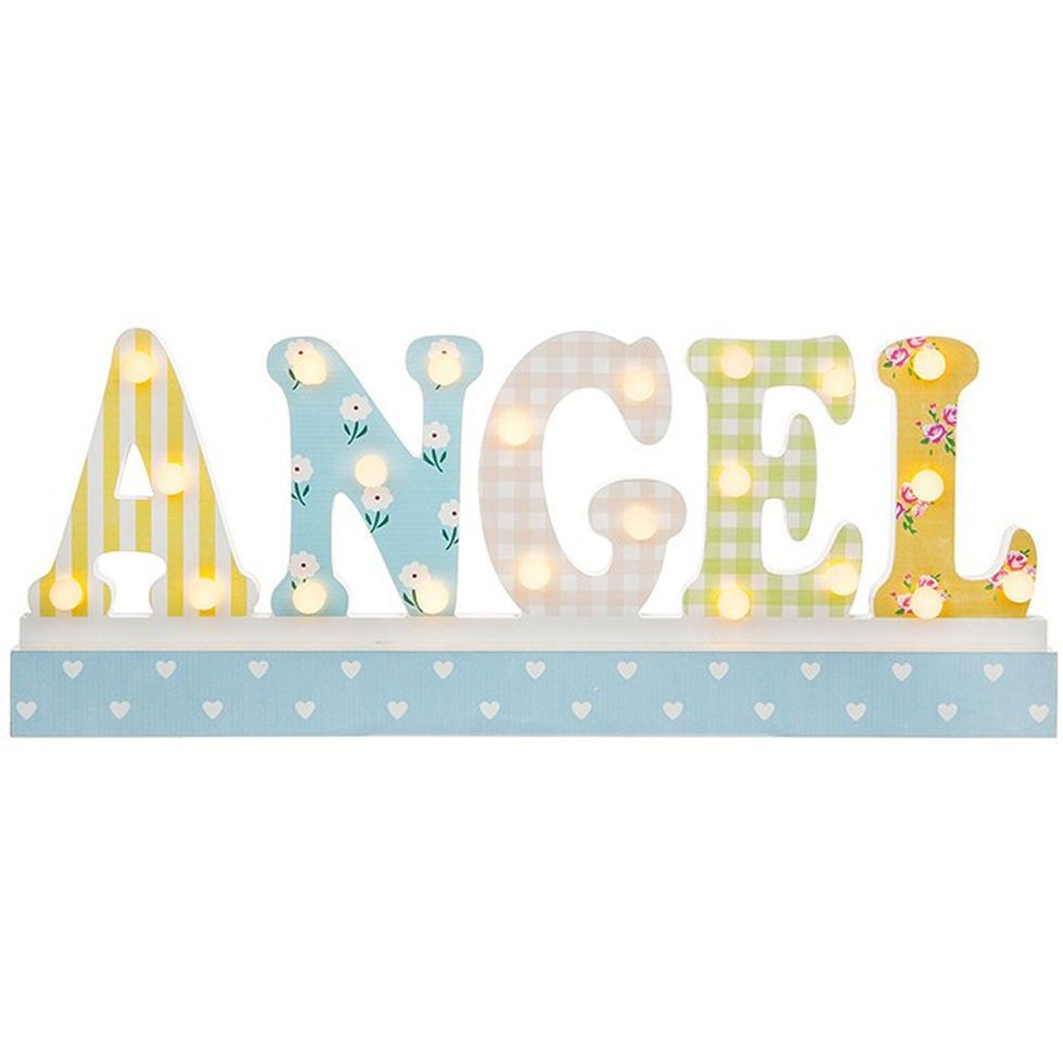Angel Word Large LED Light Up Free Standing Large Plaque
