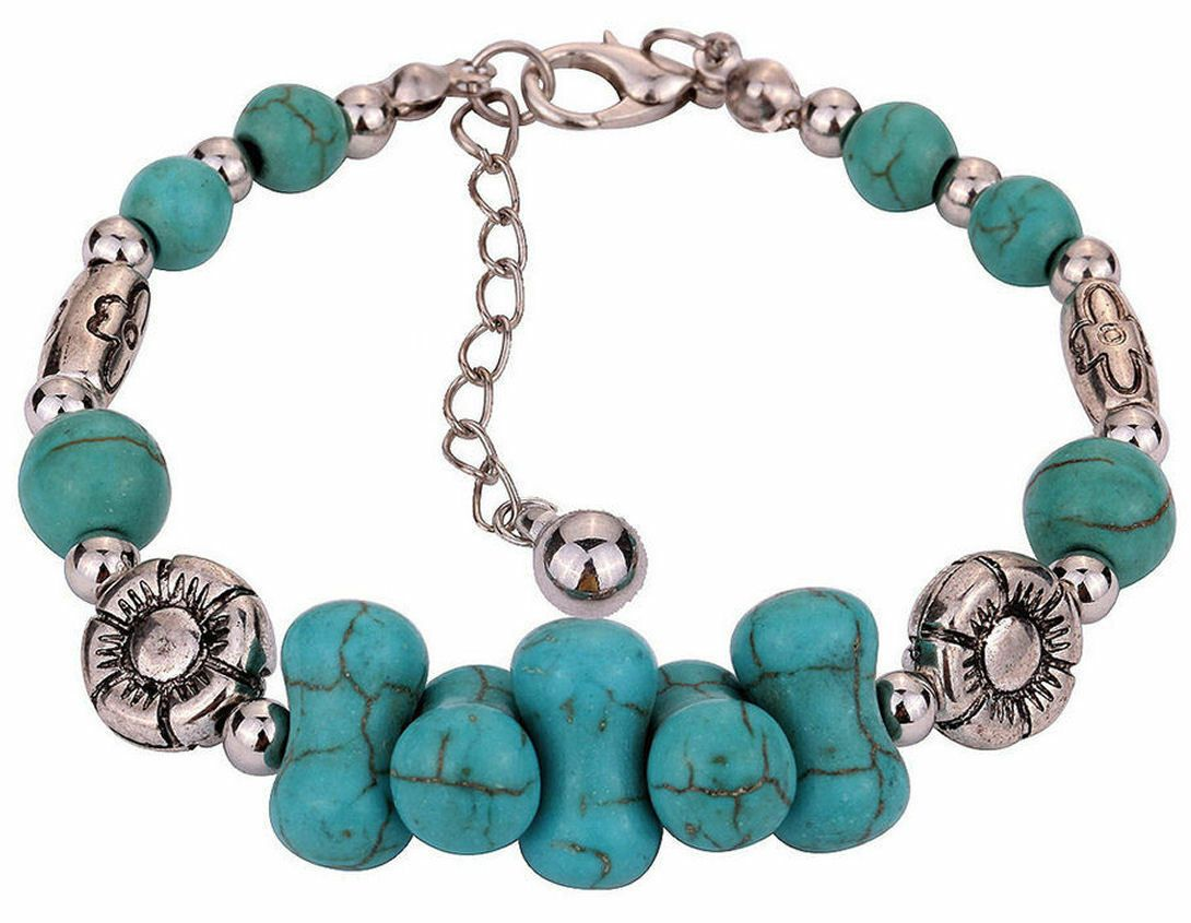 Turquoise and Tibetan Silver Bracelet