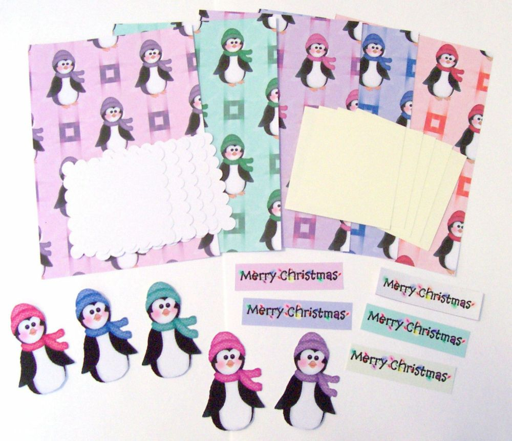 Christmas Penguins Cardmaking and Crafting Set