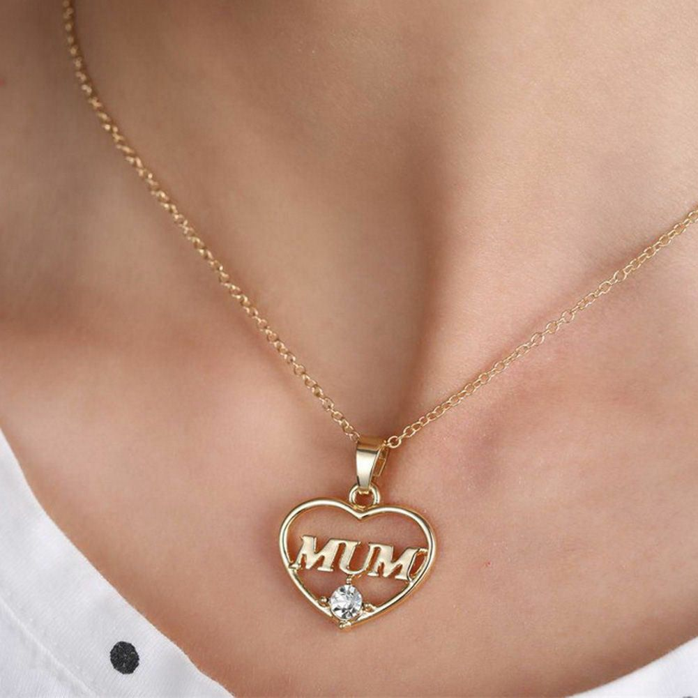 Mum Pendant Necklace - Gold